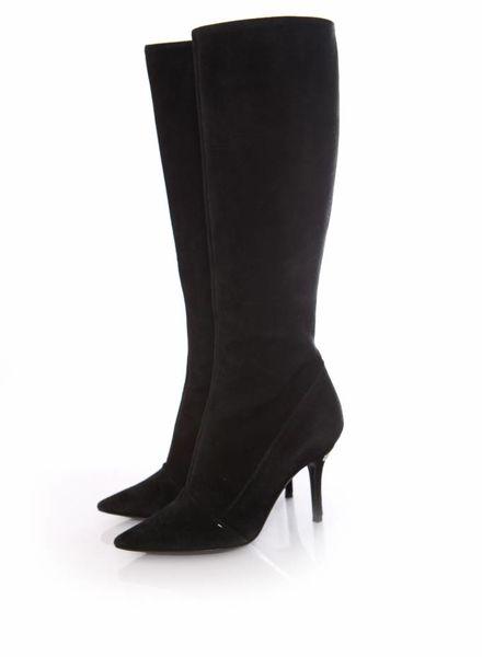 Louis Vuitton Louis Vuitton, black suede boots in size 37.