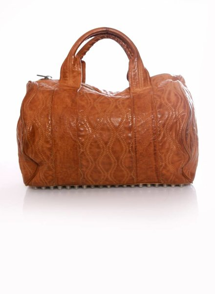 Alexander Wang Alexander Wang, Rocco studded leather bag in cognac