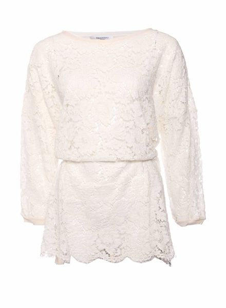 Valentino, full front laced Ecru coloured top in size S.