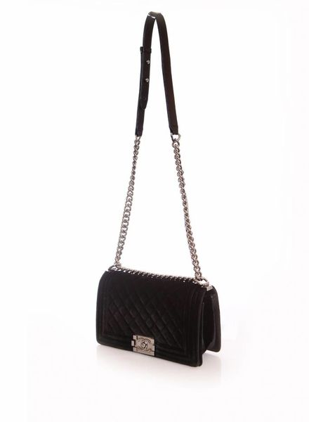 d03a81026942 Chanel Chanel, boy bag in black velvet.