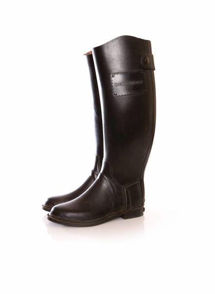 Burberry Burberry, zwarte rubberen regenlaarzen.