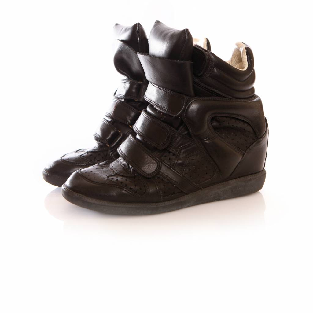 9fba7747d7 Isabel Marant Isabel Marant, black leather beckett sneakers in size 38.