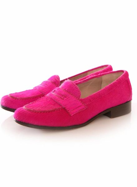 Avril Gau Avril Gau, roze ponyskin loafers.