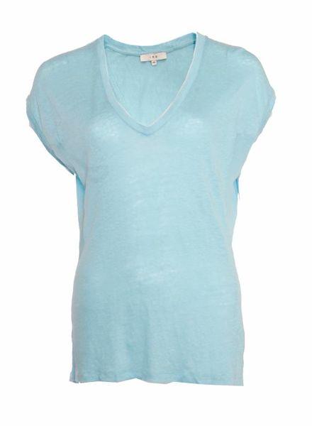 IRO IRO, blauw T-shirt in maat XS.