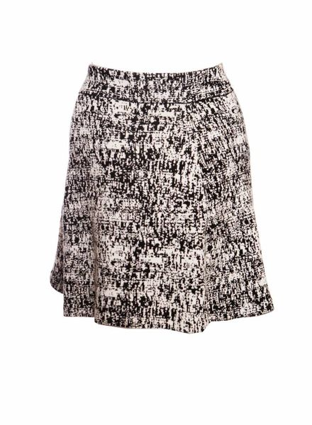 Theory Theory, black and white knitted skirt.