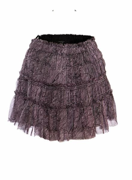 Theory Theory, purple pleated skirt with striped print in size P/XS (stretch).