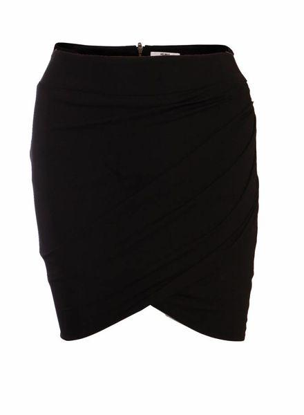 Helmut Lang Helmut Lang, black draped skirt in size P/S.
