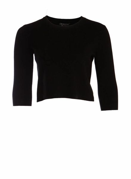 Theory Theory, black cropped top in size P/TP/XS.