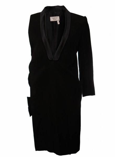 Lanvin Lanvin, black blazer dress with one sleeve in size 38/M.