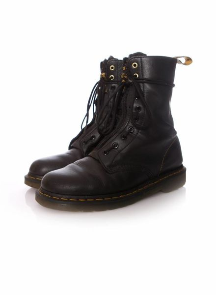 Dr Martens X Yohji Yamamoto, Black leather lace up boots in size 43.
