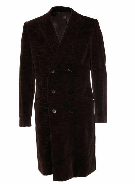 Dolce & Gabbana Dolce & Gabbana, Brown double-breasted blazer coat in size 52/L.