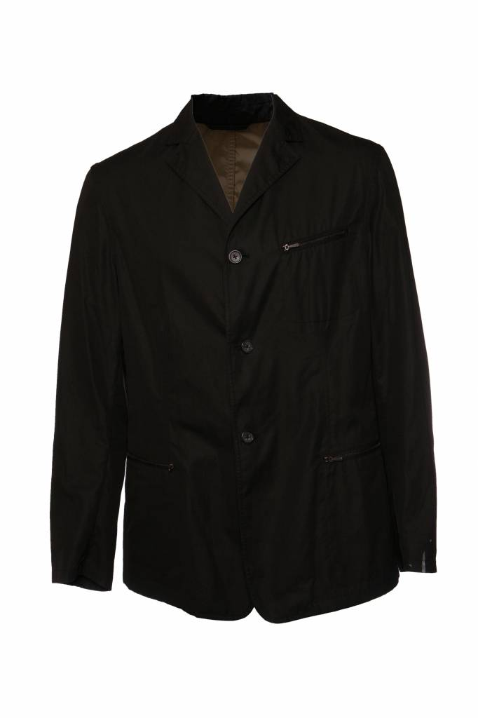 watch f45c3 c7274 Jil Sander, Black wind coat in size 54/L.