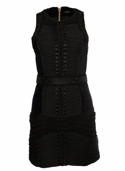 Balmain X H&M Balmain X H&M, zwart fluweel jurkje in maat EU38/M.