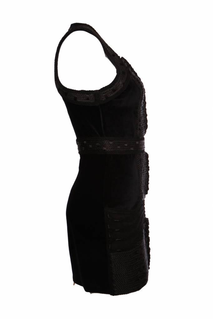 Balmain X Hm Black Velvet Dress In Size Eu38m Unique Designer
