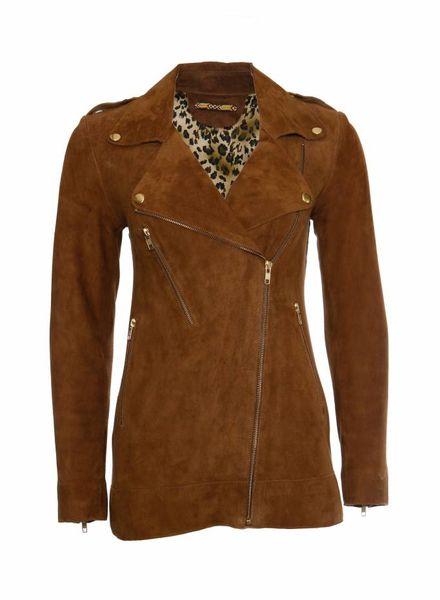 ByDanie ByDanie, camel kleurig suede jasje in maat S.