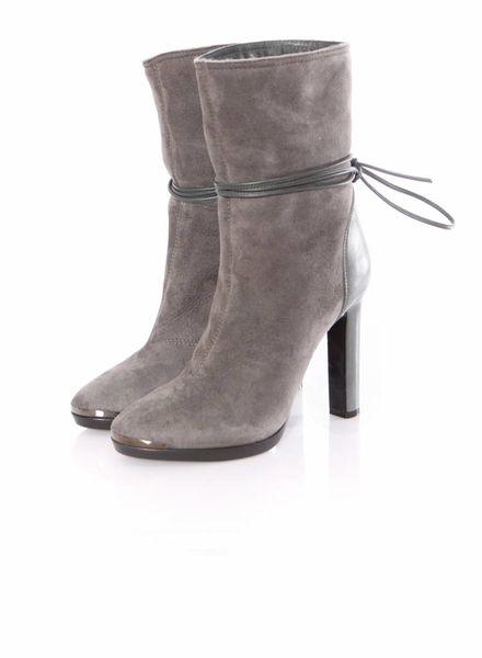 Lanvin Lanvin, mouse grey suede boots.