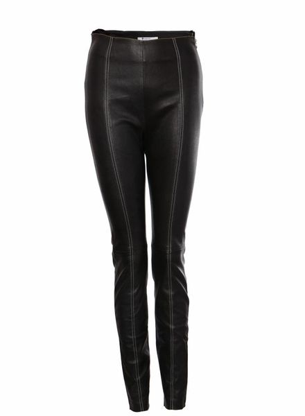 T by Alexander Wang T by Alexander Wang, Black lamb leather trousers.