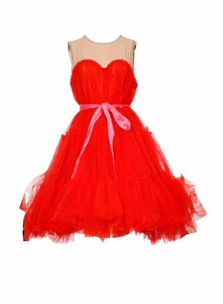 LANVIN for H&M Lanvin X H&M, Red tule dress in size EU38/M.