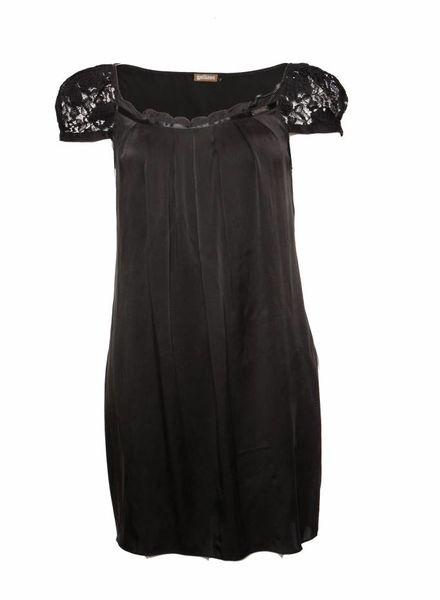 John Galliano Galliano, zwart zijden jurkje in maat IT40/XS.