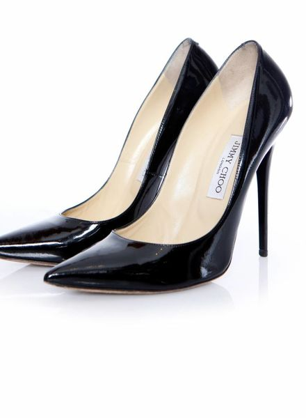 Jimmy Choo Jimmy Choo, Zwart lakleren Anouk pumps in maat 40.