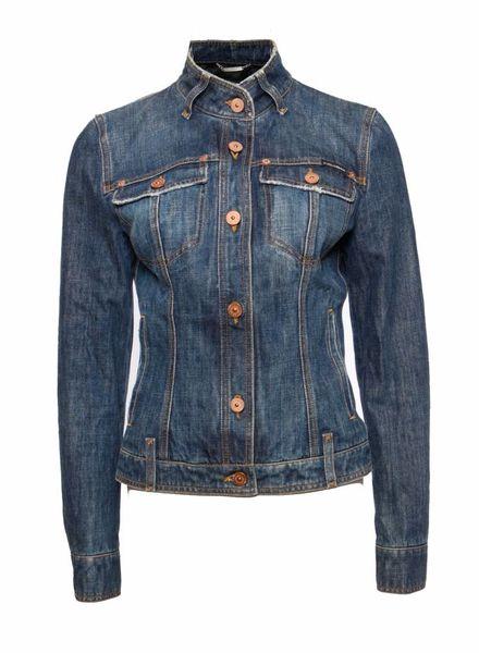 Dolce & Gabbana Dolce & Gabbana, Middel blauw jeans jasje in maat IT42/S.