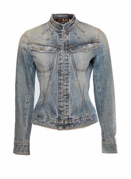 Dolce & Gabbana Dolce & Gabbana, licht blauw jeans jasje in maat IT40/XS.