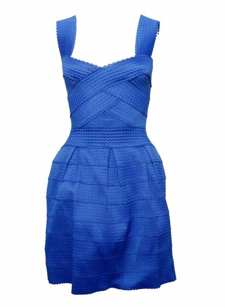 Ella Luna Ella Luna, Blauwe bodycon jurk in maat XS.
