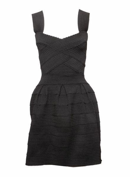 Ella Luna Ella Luna, Zwarte bodycon jurk in maat S.