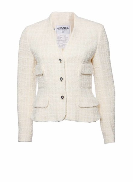 Chanel Chanel, vintage cream colored blazer in size 38FR/S.