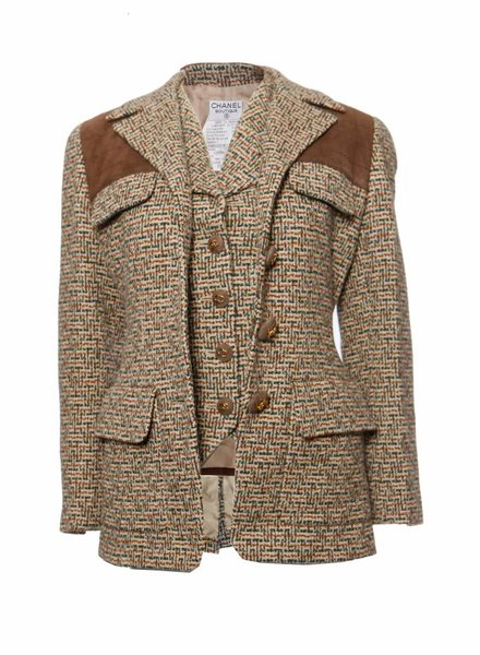Chanel Chanel, Twin-set blazer and waistcoat in size 38FR/S and FR40/S .
