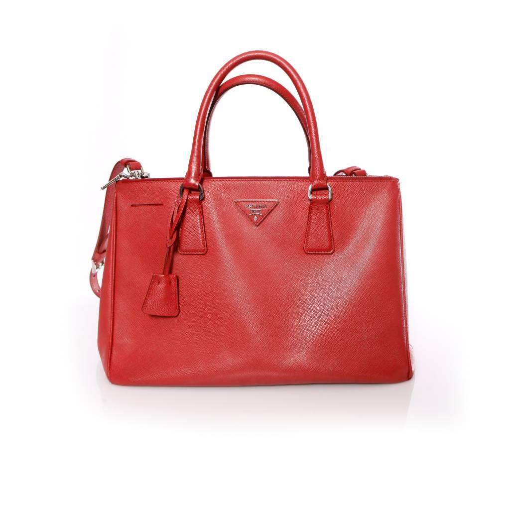e6685c79a89e Prada, Galleria tote bag in red saffiano leather. - Unique Designer Pieces