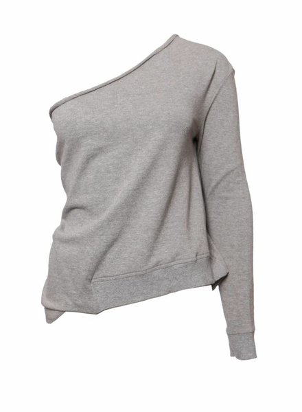 Dries van Noten Dries van Noten, Grey top with one sleeve in size S.
