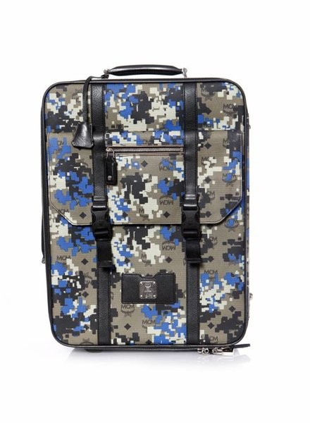 MCM Small Traveler Trolley Wheeled Suitcase.