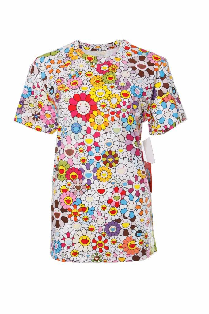 VAULT BY VANS X TAKASHI MURAKAMI, flower pattern crew neck T-shirt in size S. - Unique Designer Pieces