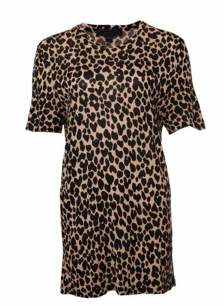 Burberry Burberry, luipaard bedrukt T-shirt in maat L.