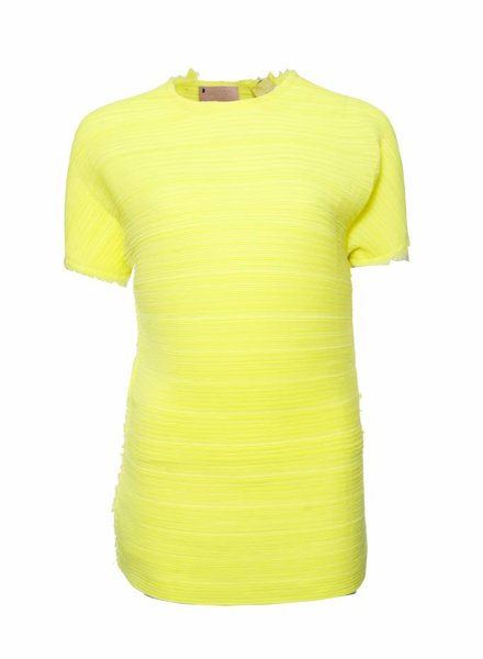 Lanvin Lanvin, Fluorescing yellow top in size S.