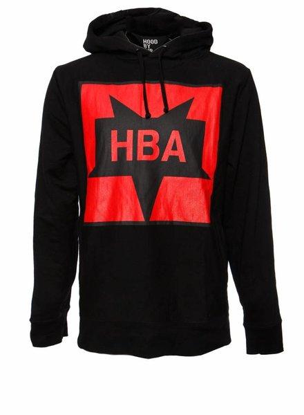 Hood By Air Hood By Air, zwarte hoody met rode print in maat XL.