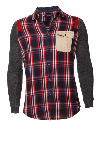 Dsquared2 Dsquared2, geruit overhemd in maat 50/L.