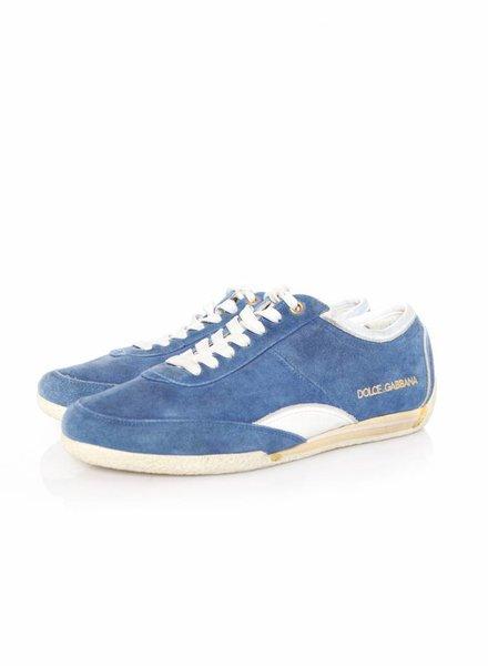 Dolce & Gabbana Dolce & Gabbana, blue suede sneakers in size 6/40.
