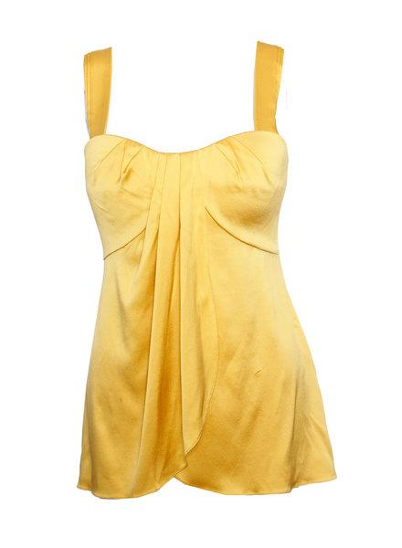 Jasmine De Milo Jasmine Di Milo, Gele zijde top met afneembare bandjes in maat S.