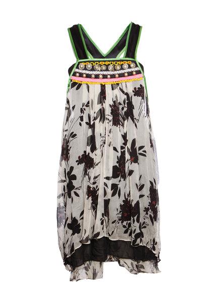 Etro Etro, Multikleurige overal jurk met borduurwerk in maat IT44/M.