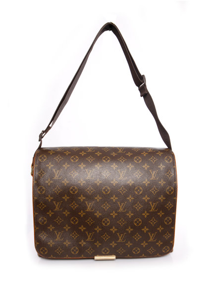 Louis Vuitton Louis Vuitton, Brown monogram canvas messenger bag.
