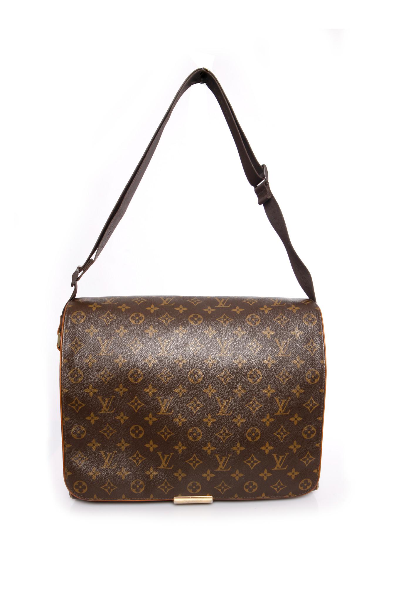 Ongekend Louis Vuitton, Brown monogram canvas messenger bag. - Unique WB-34
