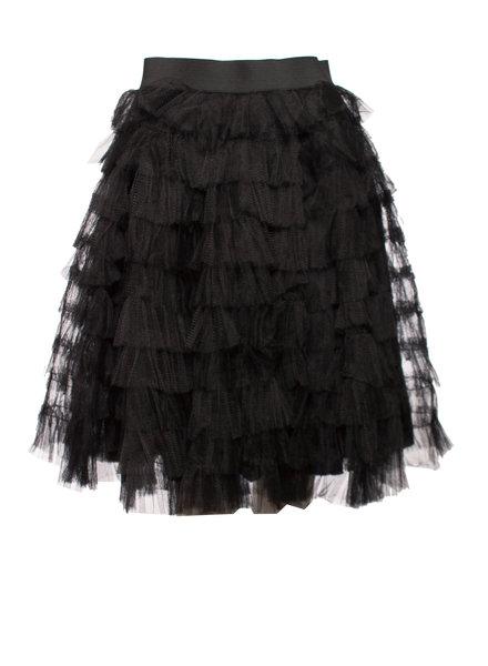 Red Valentino Red Valentino, Black tule skirt.
