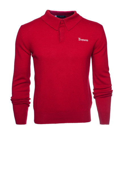 Dsquared2 Dsquared2, rood wollen trui met drukknopen.