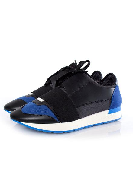Balenciaga Balenciaga, Race runners in zwart/blauw.