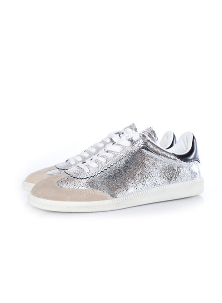 Isabel Marant Isabel Marant, Bryce metallic lace-up sneakers.