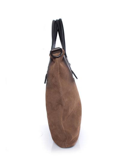 Diesel Black Gold, brown suede bag with shoulderstrap.