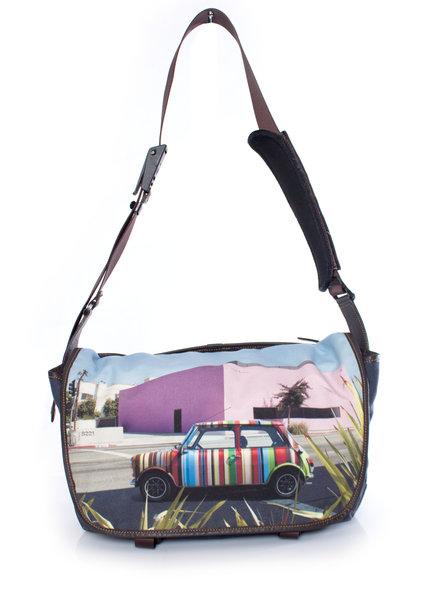 Paul Smith Paul Smith, messenger bag met print van mini op locatie.