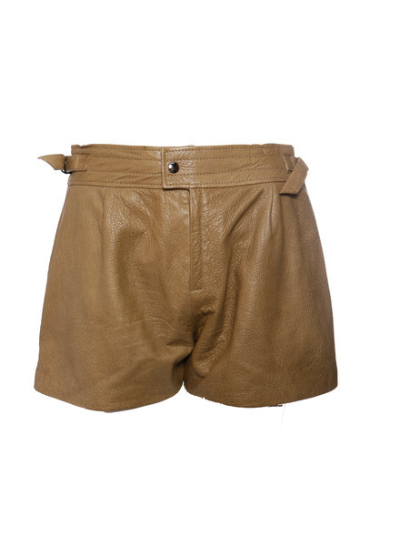 Isabel Marant Isabel Marant, Brown leather shorts in size FR38/S.